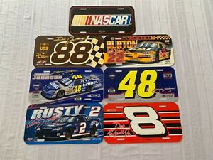 Nascar Assorted Drivers Plastic License Plate Wincraft New