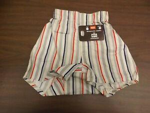 Retro Hanes Vtg 1950s NEW Vertical Stripes Broadcloth Boxers Underwear Boys Sz 2