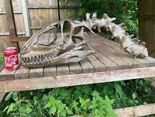 More details for deinonychus jurassic park velociraptor skull and vertebrae sculpture