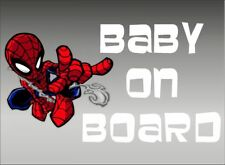 Spiderman Web Fling Baby on Board / Comics / Vinyl Vehicle Kids Graphic Decal