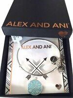 Alex and Ani Arrows of Friendship Bangle Bracelet Shiny Silver NWTBC