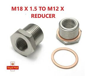 M18 to M12. Reducer Stainless Steel. Sealing Washer Included. 1 PIECE