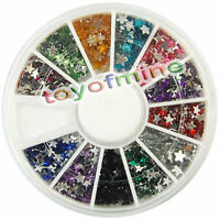 New Nail Art Rhinestones Glitters Star Acrylic Tips Decoration Manicure Wheel