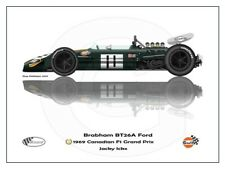 Print on Canvas Brabham BT26A 1969 #11 Jacky Ickx (BEL) winner Canadian 120 x 80