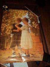 "ART POSTER~Le Chemin Du Bonheur 1987 27x40"" Beautiful Boy and Girl Print Rare~"