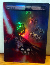 FOIL MTG SWAMP ALTERED ART DARTH VADER TIE FIGHTERS STAR WARS COMMANDER EDH FOIL