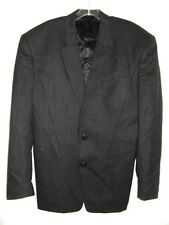 Thierry Mugler Jacket Black Two Button Great Cut Lana Wool Vintage 80's S France