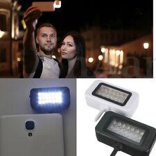 SELFIE LUMINOSO LED LUCE FLASH della fotocamera riempimento Riflettore per Cellulare Tablet