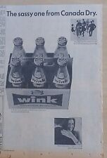 1965 newspaper ad for Wink Soda - The Sassy One from Canada Dry, grapefruit