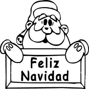 "Felix Navidad con Santa - Vinyl Decal Home Décor 12"" x 12"""