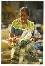 (38207) Postcard -  India - Goa Vegetable Seller with Cigarette