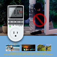 7-Day Digital Electrical Programmable Timer Outlet Switch Plug Fr Light Lamp Fan