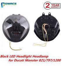 100W LED Headlight Hi/Lo+DRL Headlamp For 14-17 Ducati Monster 821 797 1200 R