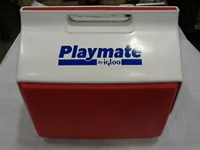 New listing Clean Vtg Igloo Playmate Red & White Blue Letters 16 Quart Cooler Usa 1995