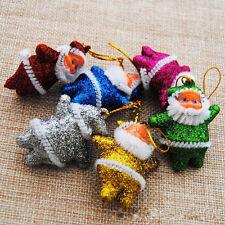 6pcs Christmas Santa Claus XMAS Gift New Ornaments Xmas Tree Hanging Decorations