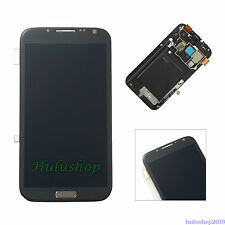 New For Samsung Galaxy Note 2 N7105 T889 i317 LCD Digitizer Assembly +Frame USA