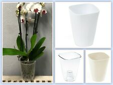 Orchideentopf Rund Übertopf Pflanzentopf Transparent Blumentopf 3 Farben