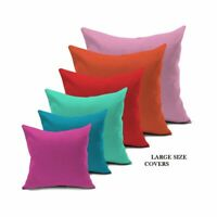"""Replacement Sofa XL Cushion Covers 24"""" 26"""" 28"""" 30"""" Various Sizes  Huge Choice"""
