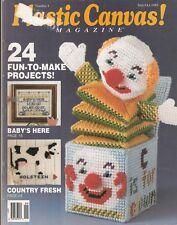 Vintage PLASTIC CANVAS Magazine #4 Sept/Oct 1989 *Clutch Purse, Toys & More