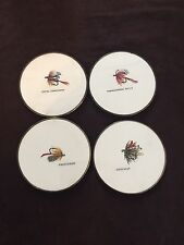 New listing 4 vintage fishing fly coasters