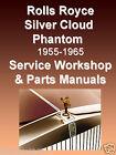Rolls-Royce SILVER CLOUD I-III SERVICE & PARTS MANUAL -9- MANUALS 1956-1965 CD
