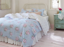 New Simply Shabby Chic Blue Bella Floral Twin Comforter & Sham Set ~Cottage~