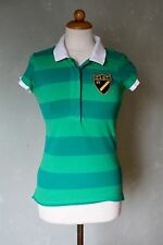 GANT Poloshirt Shirt Top grün gestreift schick Business sportlich Gr. 36 / S *