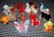 Ty Beanie Baby Babies Lot 13 Flutter Mac Wise Rescue Twigs Goatee Snort & more