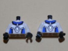 Lego 2 torses blancs / 2 white torsos from minifig set 7713 9763 7705 7709