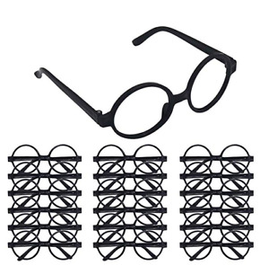 24PCS Adult Kids Harry Potter Wheres Wally Black Wizard Glasses Frame Cosplay AU