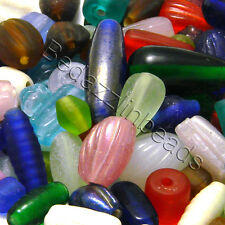 1/2 Pound Bag of Assorted India Glass Beads in Mixed Sizes, Shapes & Colors
