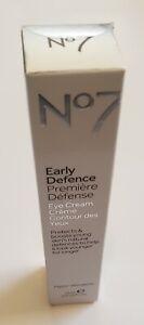 No.7 Early Defence Eye Cream 1.5ml 0.5oz Moisturizer Vitamin A