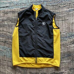 Men's Pearl Izumi Yellow Black Zip Up Cycling Biking Vest Jacket Windbreaker XL