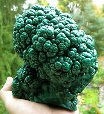 10.25 Pound, Hand Polished Malachite Nodule Cluster. Mined in the 1970's. Congo