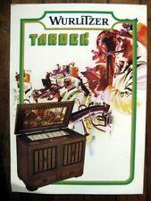 """Wurlitzer Juke Box """" Tarock """" Flyer publicité"""