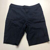 Lauren Ralph Lauren Dark Blue Bermuda Style Shorts Sz 14P A2176