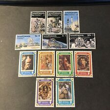TURKS & CAICOS IS, SCOTT # 325-330(6)+331-336(6), 2-SETS 1977 SPACE STATION USED