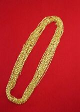 WHOLESALE LOT OF 25 14kt GOLD PLATED 16 INCH 2mm TWISTED NUGGET CHAINS