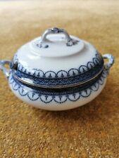 Vintage Losol Ware Keeling Blue White Soup Vegetable Tureen Claremont