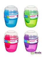 Sistema Snack Capsule To Go Lunch Food Snacks Pot School Work 515ml BPA Free