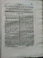 1794 NUOVO GIORNALE D'ITALIA: RIVISTA SU ALLEVAMENTO, FORAGGI, PASCOLI, PECORE..
