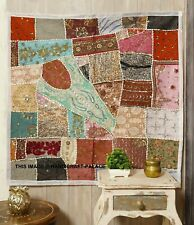 Wall Tapestry Hand Embroidered Beaded Patchwork Hanging Heavy Sequins Decor 40""