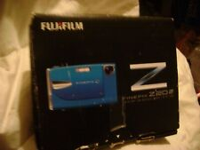Fujifilm FinePix Z20fd 10MP Digital Camera Blue w/box,battery,charger,manuals,cd