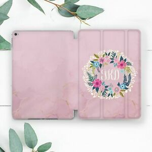 Pink Flower Wreath Personalized Case For iPad 10.2 Pro 12.9 10.5 9.7 Air 3 Mini