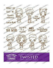 Twisted Creeper Crew Kit #2-The Greeting Farm Cling Mount Rubber Stamp-Stamping