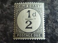 GOLD COAST POSTAGE DUE STAMP SGD1 1/2D BLACK VLMM