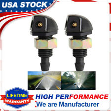 2Pcs Universal Plastic Vehicle Front Windshield Wiper Washer Sprayer Jets Nozzle