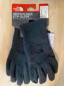 The North Face Fleece Etip Men's Gloves Size Large Dark Gray NWT