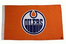 EDMONTON OILERS ORANGE NHL HOCKEY LOGO 3' X 5' FEET FLAG BANNER .. NEW