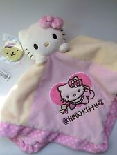 Sanrio angel hello kitty soft rattle snuggle blanket plush and purin pin trinket
